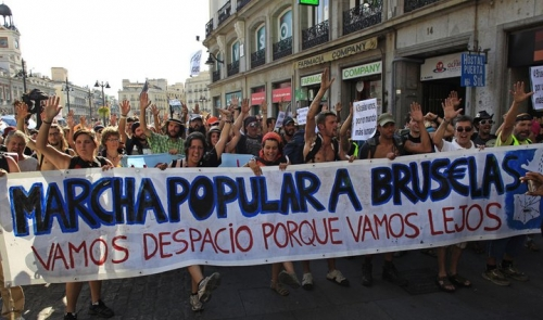 Indignados start epic march to Brussels #marchabruselas #spanishrevolution #europeanrevolution