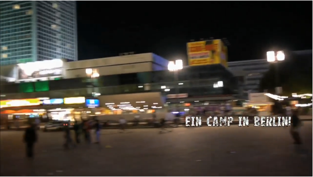 Berlin camps in Alexanderplatz!