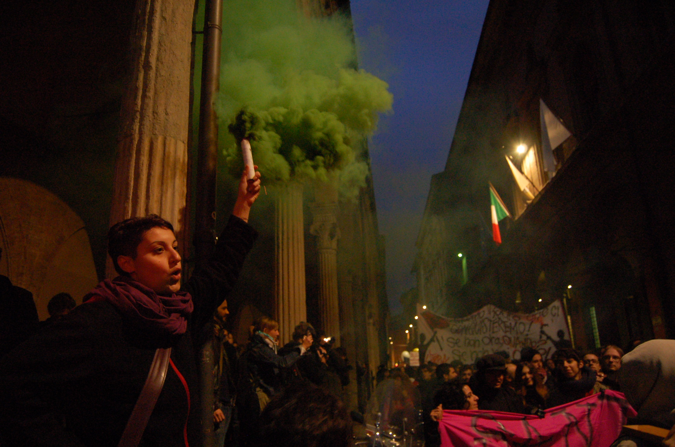 Occupy movement grows in Italy, as protesters occupy a cinema, warehouse and university in Bologna