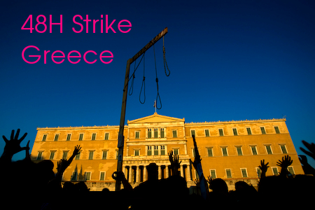 (48HStrike Updates) Greece and Syntagma square on February 11-12 + Video