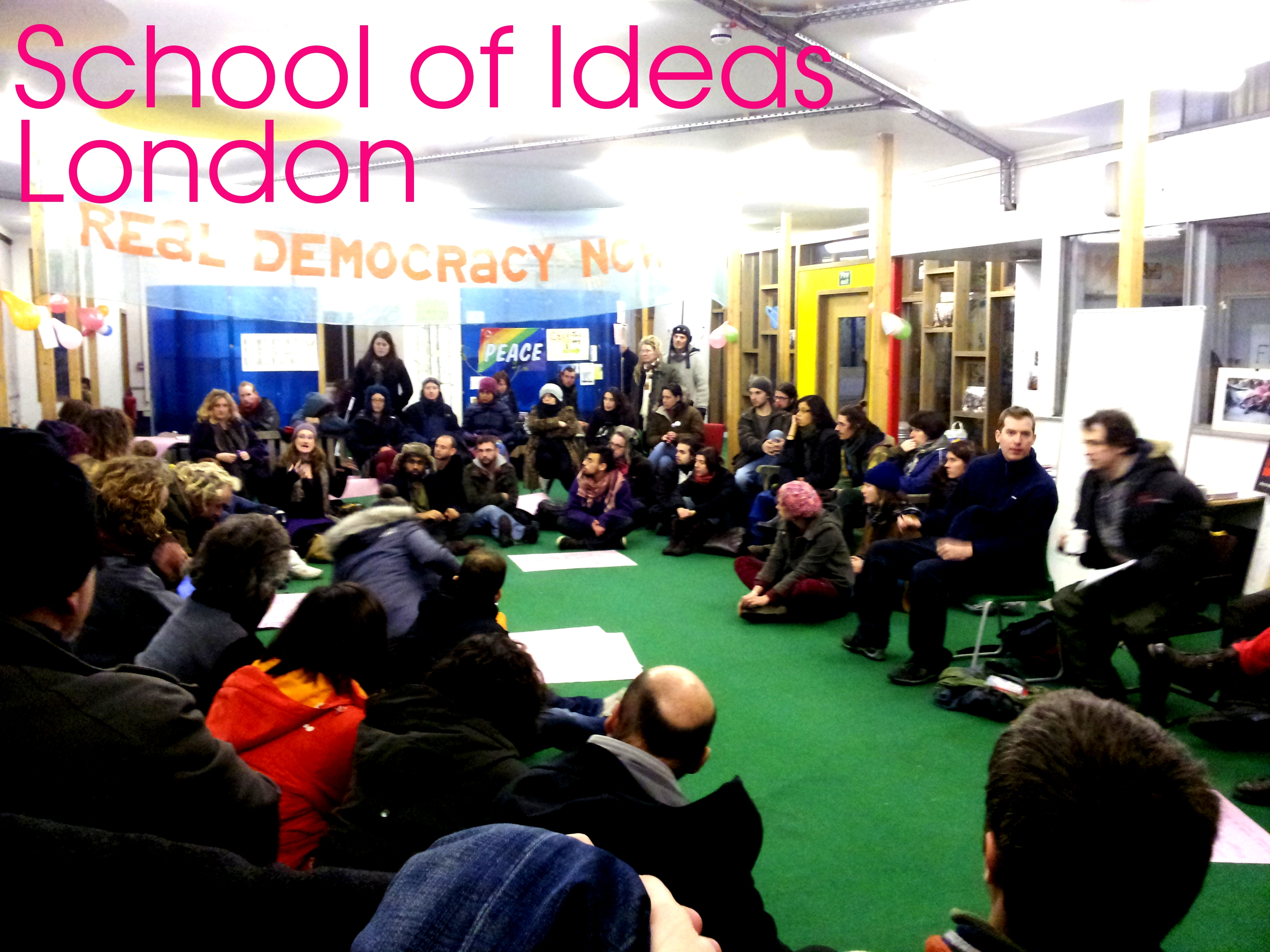 The School of Ideas open to the public for the free sharing of ideas and solutions