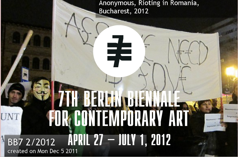 #occupyBerlinBiennale: General concept for 15M/Occupy @7thBiennale: BERLIN group