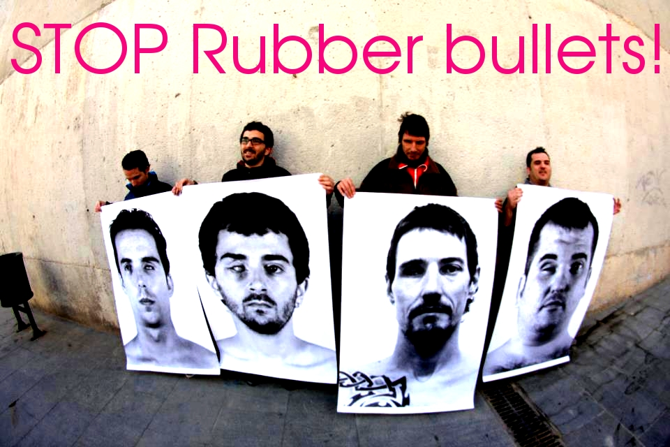 STOP Rubber bullets! 23 people in Spain lost an eye from the impact of this projectile