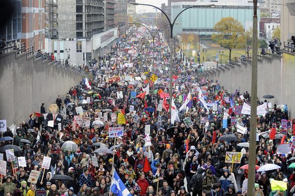 Demand of support against dictature in Quebec parliament