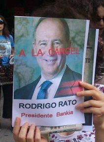 """Photo of Rodrigo Rato withthe text """"to jail"""""""