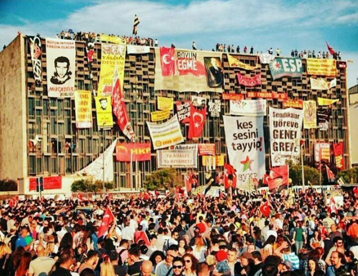 Taksim square, Gezi park is back 4 years later